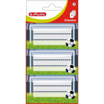 Etichete scolare, 3 x 3 coli/set, HERLITZ Fotbal