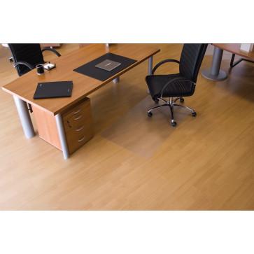 Protectie podea pentru suprafete dure, forma O, 90 x 120cm, RS OFFICE EcoGrip