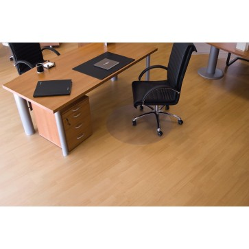 Protectie podea pentru suprafete dure, forma R, diametru 90cm, RS OFFICE EcoGrip