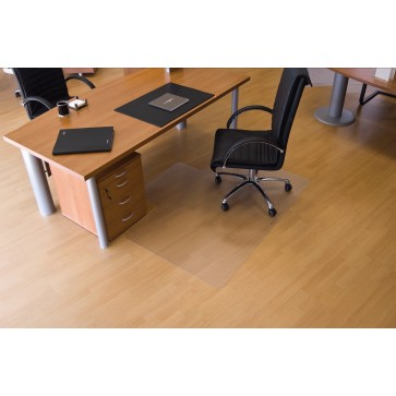 Protectie podea pentru suprafete dure, forma L, 150 x 120cm, RS OFFICE EcoGrip