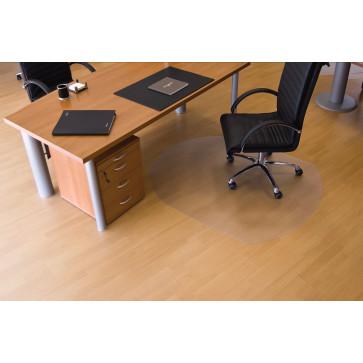 Protectie podea pentru suprafete dure, forma T, 150 x 120cm, RS OFFICE EcoGrip