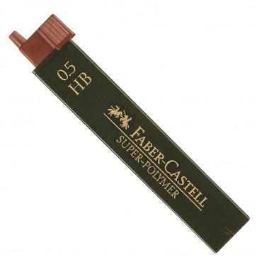 Mine pentru creion mecanic, 0.5mm, HB, FABER CASTELL Super-Polymer
