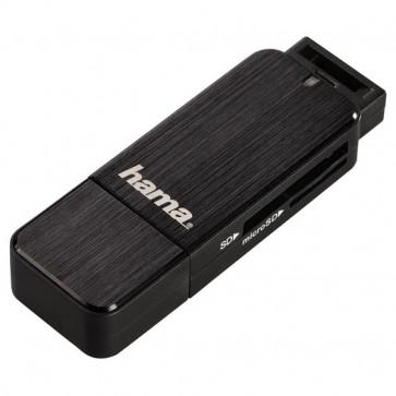 Cititor de carduri HAMA, USB 3.0, SD/microSD, negru