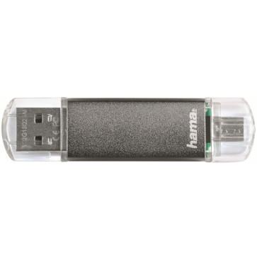 Stick USB HAMA Laeta Twin 32GB gri
