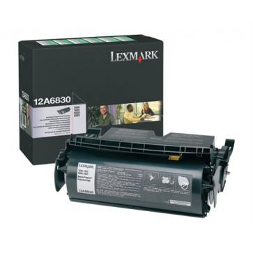 Toner, black, LEXMARK 12A6830