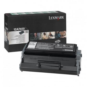 Toner, black, LEXMARK 12A7400