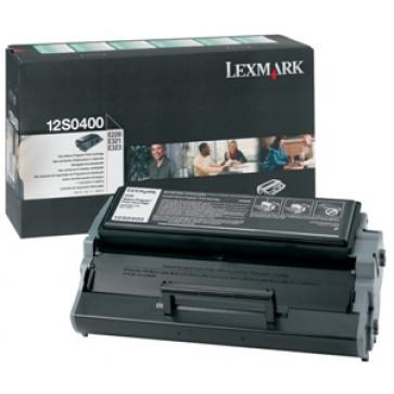 Toner, black, LEXMARK 12S0400