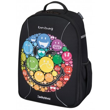 Rucsac ergonomic, HERLITZ Be.Bag Airgo Smiley World Rainbow