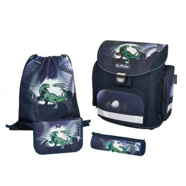 Ghiozdan ergonomic echipat, HERLITZ Midi Plus DinoJungle
