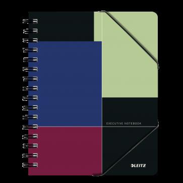 Caiet de birou, cu spira, coperta PP, A5, negru-violet, dictando, LEITZ Executive Be Mobile