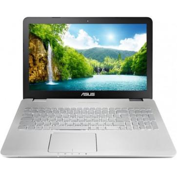 Laptop ASUS N551JX,15.6'' FHD, Procesor Intel® Core™ i7-4750HQ 2.0GHz Crystal Well, 8GB, 1TB + 24GB SSD, GeForce GTX 950M 4GB, FreeDos, Grey