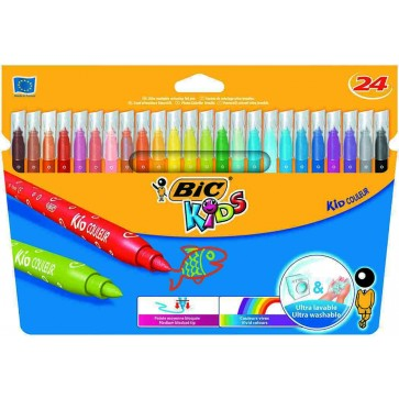 Carioci, 24 culori/set, BIC KiDS KID COULEUR