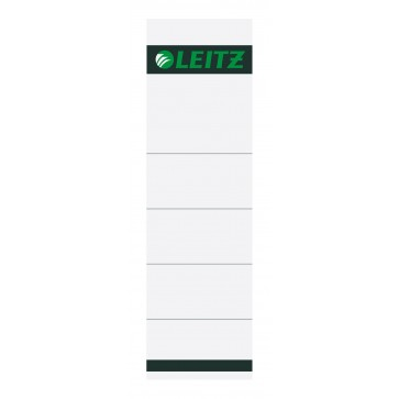 Etichete pentru bibliorafturi, 80mm, gri, 10 buc./set, LEITZ