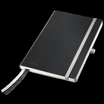 Caiet de birou, A5, dictando, coperta flexibila, negru satin, LEITZ Style