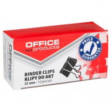 Clips, 32mm, 12buc/cutie, negru, Office Products