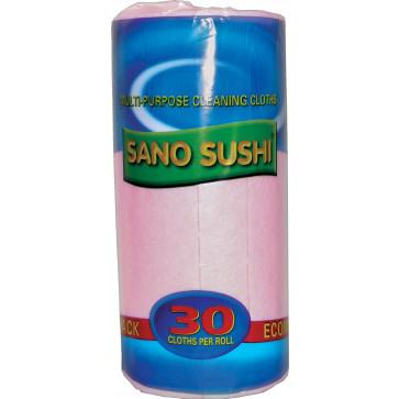Laveta uscata universala, 40 buc/rola, roz, SANO Sushi