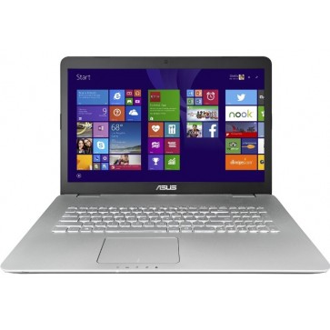 "Laptop ASUS N751JK, 17.3"" FHD IPS, Procesor Intel® Core™ i7-4710HQ pana la 3.50 GHz) 8GB, 1TB, GeForce GTX 850M 4GB, Win 8.1 Pro, Grey"