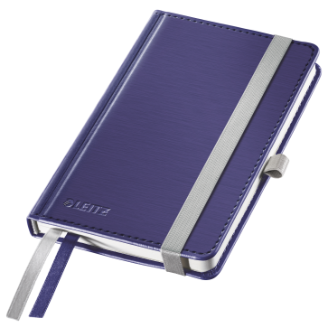 Caiet de birou, A6, matematica, coperta dura, albastru-violet, LEITZ Style