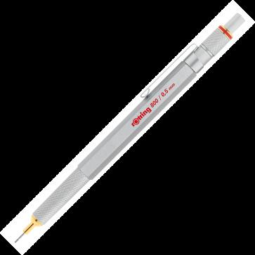 Creion mecanic, 0.5mm, argintiu, ROTRING 800