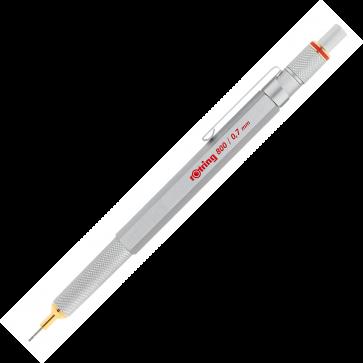 Creion mecanic, 0.7mm, argintiu, ROTRING 800
