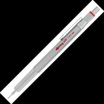 Creion mecanic, 0.5mm, argintiu, ROTRING 600