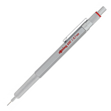 Creion mecanic, 0.7mm, argintiu, ROTRING 600
