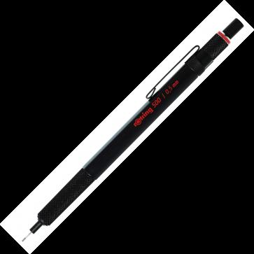 Creion mecanic, 0.5mm, negru, ROTRING 500