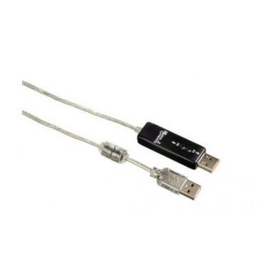 Cablu Link USB 2.0 pentru Windows HAMA, 2m, transparent