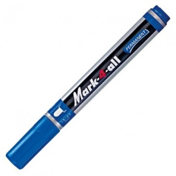 Marker permanent, 1.5-2.5mm, albastru, STABILO Mark-4-all 651-41