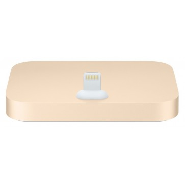Dock APPLE mgrm2zm/a pentru iPhone 5, 5c, 5s, 6, 6 Plus, iPod touch (5 gen), gold