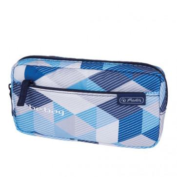 Penar neechipat, 1 fermoar, tip etui, HERLITZ Be.Bag Fellow Blue Checked