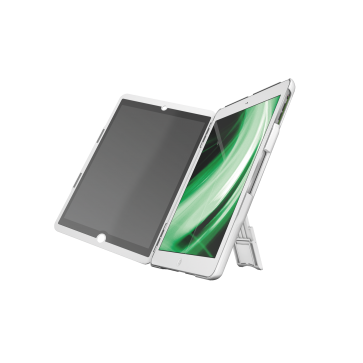 Multi-carcasa iPad Air, cu capac cu filtru de confidentialitate si stativ, alb, LEITZ Complete