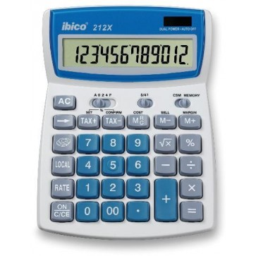 Calculator de birou, 12 digiti, IBICO 212X