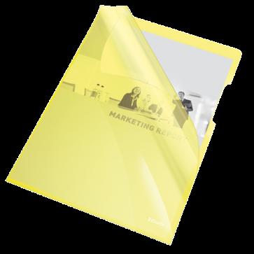Mapa de protectie, A4, cristal, 150 mic, culoare galben 25 buc./set, ESSELTE