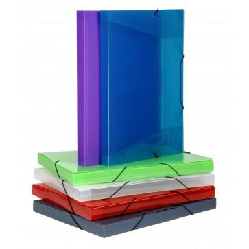 Mapa din plastic, A3, diverse culori, cu elastic, VIQUEL Coolbox