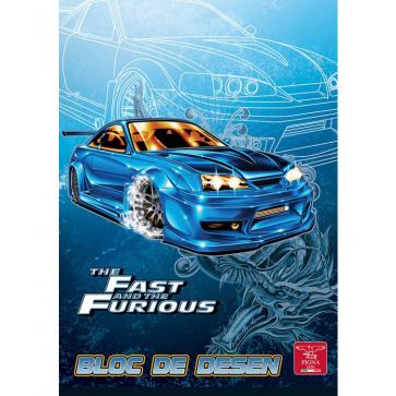 Bloc de desen, A4, 160 g/mp, 16 file, PIGNA Premium Fast & Furious