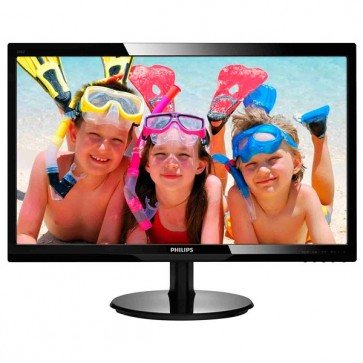 "Monitor LED, 24"""", Full HD, negru, PHILIPS 246V5LHAB/00"