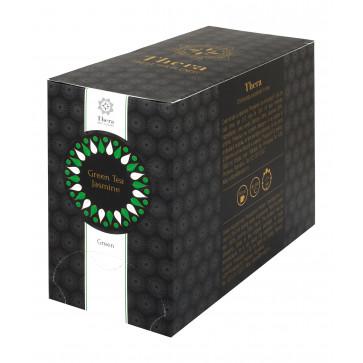 Ceai, 20 plicuri/cutie, ceai verde cu iasomie, THERA Green Tea Jasmine