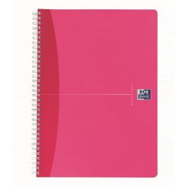 Caiet pentru birou cu spira, diverse culori, A4+, 120 file, dictando, OXFORD Beauty