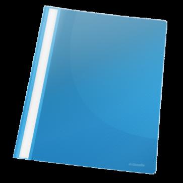 Dosar din plastic, cu sina, albastru, ESSELTE Standard VIVIDA