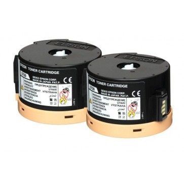 Toner, double pack, black, EPSON C13S050710