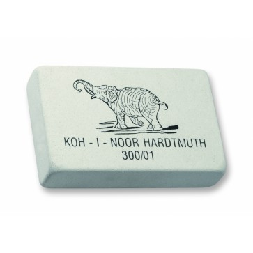 Radiera alba, pentru creioane grafit, 123x80x27mm, KOH-I-NOOR Elephant