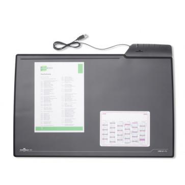 Mapa de birou, 43.50 x 68.00cm, negru, cu 4 porturi USB, DURABLE