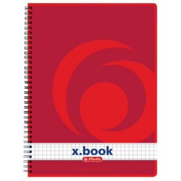 Caiet de birou A5, matematica, cu spira, 80 file, HERLITZ  x.book (College)