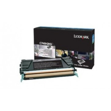 Toner, black, LEXMARK C746H2KG