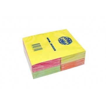 Notes autoadeziv (12 seturi), 125 x 75mm, 80 file/set, diferite culori intense, GLOBAL NOTES