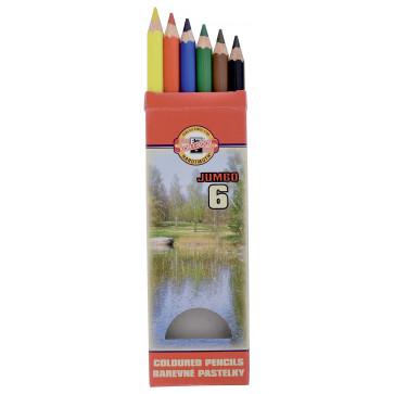 Creioane colorate, 6 culori/set, KOH-I-NOOR Omega