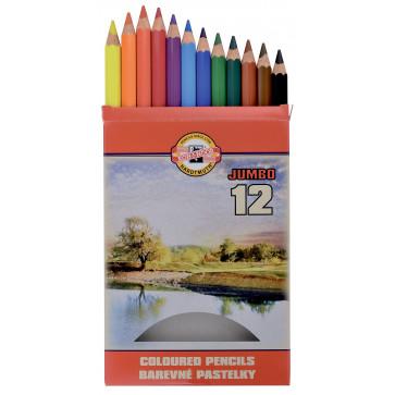 Creioane colorate, 12 culori/set, KOH-I-NOOR Omega