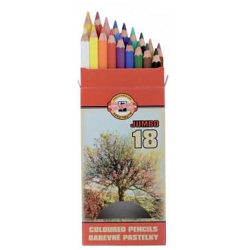 Creioane colorate, 18 culori/set, KOH-I-NOOR Omega