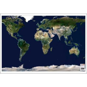 Mapa de birou, 70 x 50cm, harta Lumii - vedere din satelit, STIEFEL